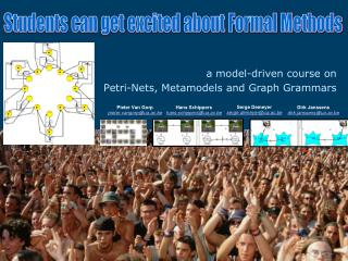 a model-driven course on  Petri-Nets, Metamodels and Graph Grammars
