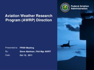 Aviation Weather Research Program (AWRP) Direction
