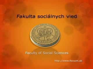 Fakulta sociálnych vied