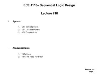 ECE 4110– Sequential Logic Design