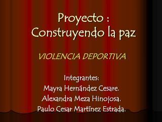 Proyecto : Construyendo la paz