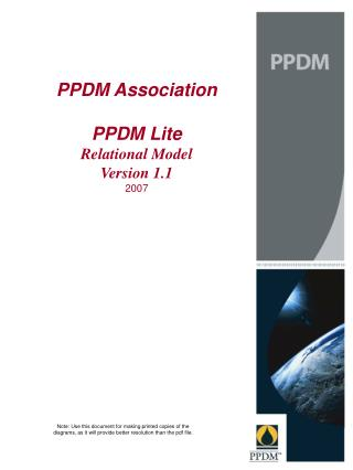 PPDM Association PPDM Lite  Relational Model Version 1.1 2007