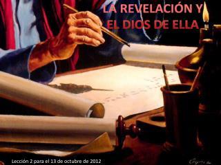 Lección 2 para el 13 de octubre de 2012