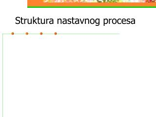 Struktura nastavnog procesa