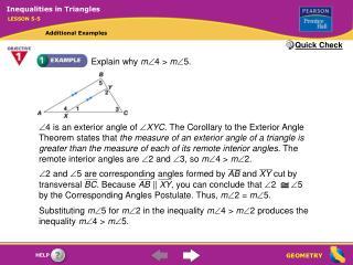 Explain why  m  4 >  m  5.