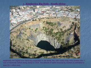 1   Kimberley Big Hole - South Africa