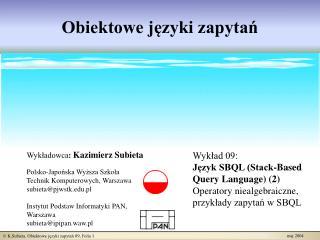 Obiektowe języki zapytań