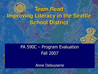 Team Read  Improving Literacy in the Seattle School District