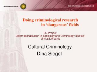 Cultural Criminology Dina Siegel