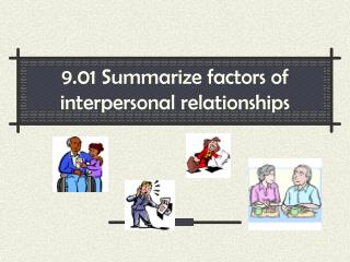9.01 Summarize factors of interpersonal relationships