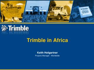 Trimble in Africa