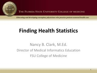 Finding Health Statistics