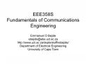 EEE358S Fundamentals of Communications Engineering