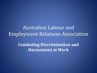 Australian  Labour  and Employment Relations Association