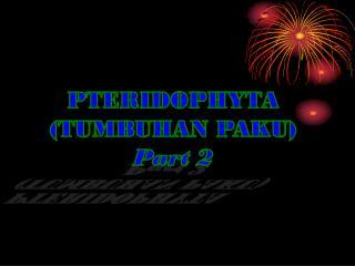 PTERIDOPHYTA (TUMBUHAN PAKU) Part 2
