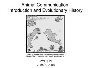 Animal Communication:              Introduction and Evolutionary History