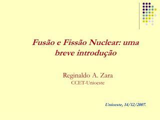 Fusão e Fissão Nuclear: uma breve introdução