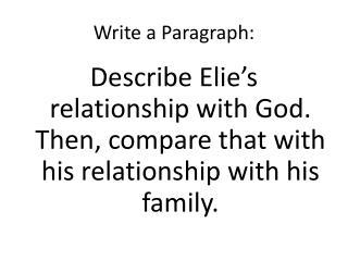 Write  a  Paragraph :