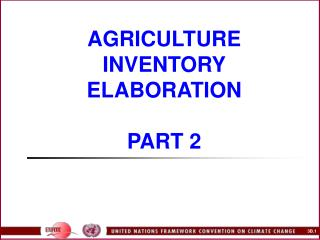 AGRICULTURE INVENTORY ELABORATION  PART 2