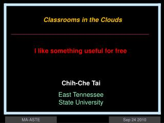 Chih-Che Tai East Tennessee  State University