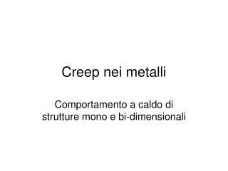 Creep nei metalli