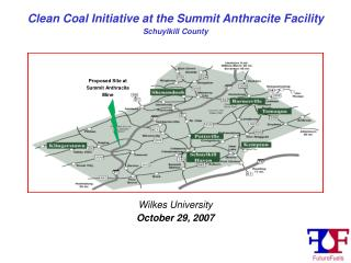 Clean Coal Initiative at the Summit Anthracite Facility Schuylkill County