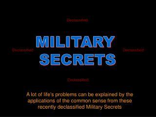MILITARY  SECRETS