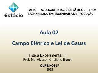 Física Experimental III  Prof.  Ms . Alysson Cristiano Beneti