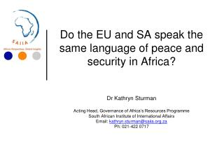 EU agreements with SA and AU