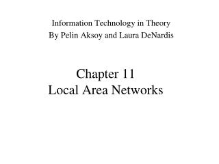 Chapter 11 Local Area Networks