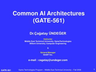 Common AI Architecture s  (GATE-561)