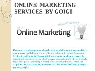 ONLINE  MARKETING services  by goigi