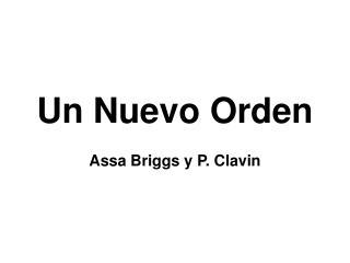 Un Nuevo Orden