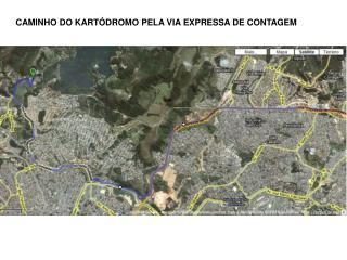 Mapa do Kart??dromo Internacional de Betim
