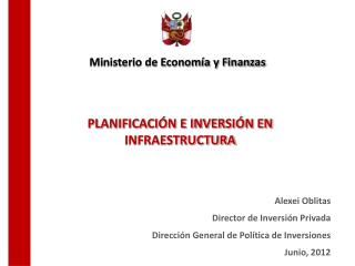 Planificación e Inversión en Infraestructura