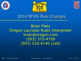 2014 NFHS Rule Changes