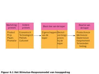 Figuur 6.1 Het Stimulus-Responsmodel van koopgedrag