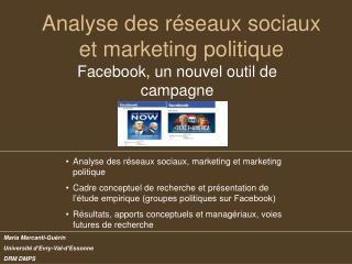 Analyse des réseaux sociaux et marketing politique