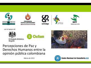 Percepciones de Paz y Derechos Humanos entre la opinión pública colombiana