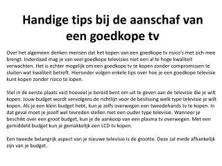 Handige tips bij de aanschaf van een goedkope tv