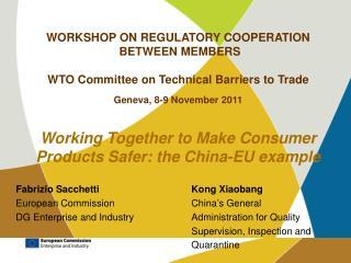 Fabrizio SacchettiKong Xiaobang European CommissionChina�s General
