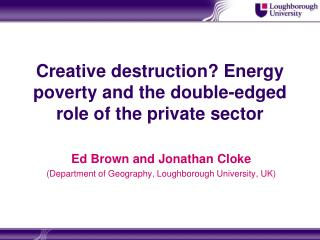 Creative destruction? Energy poverty and the double-edged role of the private sector