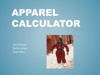 Apparel Calculator