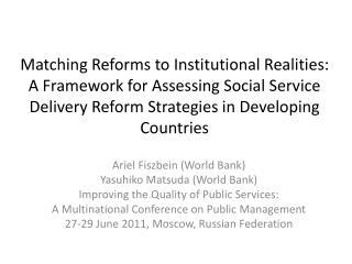 Ariel  Fiszbein  (World Bank) Yasuhiko Matsuda (World Bank)
