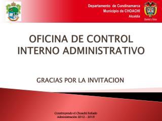 OFICINA DE CONTROL INTERNO ADMINISTRATIVO