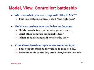 Model, View, Controller: battleship