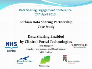 Data Sharing Engagement Conference  24 th  April 2013