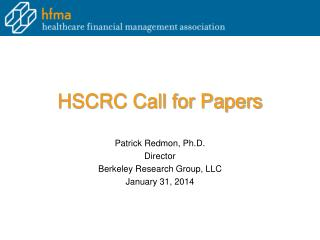 HSCRC Call for Papers