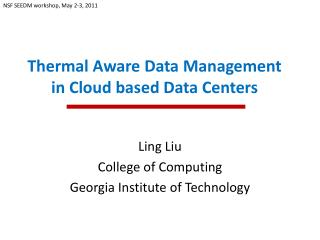 Thermal Aware Data Management in Cloud based Data Centers