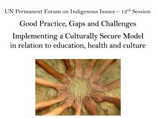 UN Permanent Forum on Indigenous Issues � 12 th  Session Good Practice, Gaps and Challenges